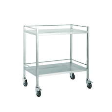 Double Instrument trolley with Rails - 1 Shelf